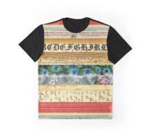 Peacock Feathers, Flowers, Leaves, Music Notes  Graphic T-Shirt