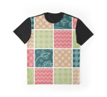 Zigzag, Polka Dots, Gingham - Green Red Blue Graphic T-Shirt