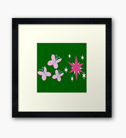 My little Pony - Fluttershy + Twilight Sparkle Cutie Mark Framed Print
