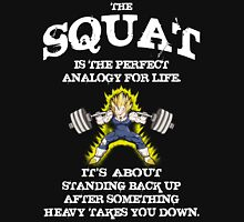 Squat Analogy (Vegeta Leg Day) Unisex T-Shirt