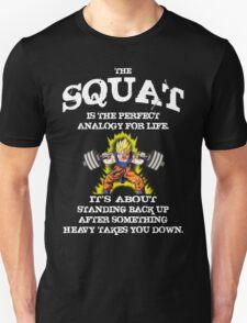 Squat Analogy (Goku Leg Day) T-Shirt