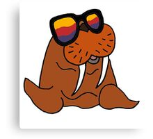 Hilarious Cool Walrus in Sunglasses  Canvas Print