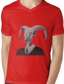 Skull in a Suit Mens V-Neck T-Shirt