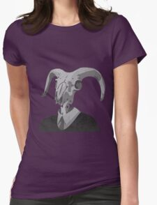 Skull in a Suit Womens Fitted T-Shirt