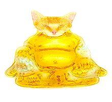 Buddha Cat Photographic Print
