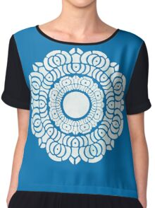 White Lotus Symbol Chiffon Top