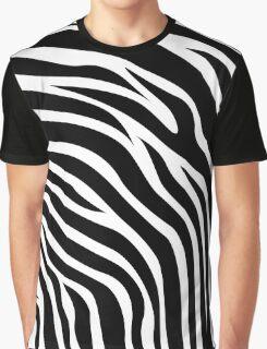Zebra Skin Texture Graphic T-Shirt