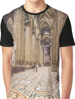 nave lateral pavimento. Milan Cathedral. Graphic T-Shirt