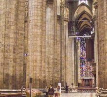 nave lateral pavimento. Milan Cathedral. Sticker