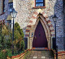 Arched Door.  Totnes. Devon.UK by lynn carter