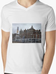 Royal Hotel in Weymouth, SW England Mens V-Neck T-Shirt