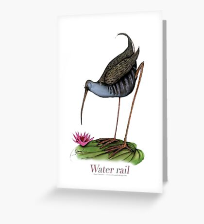 Water Rail, tony fernandes Greeting Card