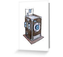 Watercolor Retro Camera  Greeting Card