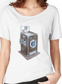 Watercolor Retro Camera  Women's Relaxed Fit T-Shirt