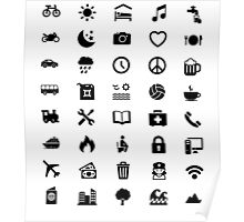 Travel Icon for World Travellers Poster