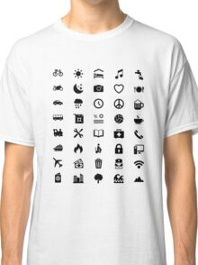 Travel Icon for World Travellers Classic T-Shirt