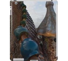 Up Close and Personal - Antoni Gaudi's Dragon's Back and Cross Turret at Casa Batllo iPad Case/Skin
