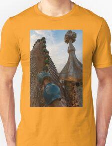 Up Close and Personal - Antoni Gaudi's Dragon's Back and Cross Turret at Casa Batllo T-Shirt