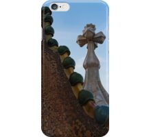 Capricious Trencadis Mosaics - Antoni Gaudi's Dragon's Back and Cross Turret at Casa Batllo iPhone Case/Skin