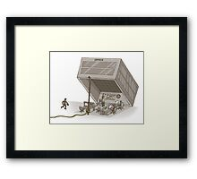 office is a trap   Framed Print