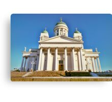 Helsinki Cathedral from the side Canvas Print