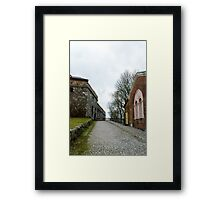On Sveaborg - Suomenlinna in Finland Framed Print