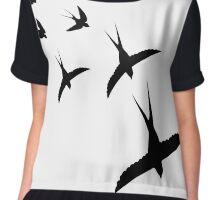 flying birds on white background ,vector illustration Chiffon Top