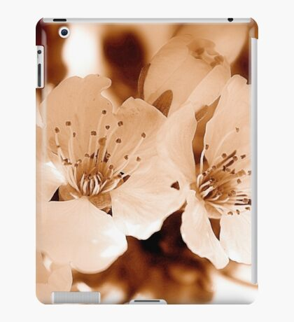 Cherry blossoms in warm sepia iPad Case/Skin