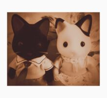 Sylvanian Families ~ Cat Couple Vintage Kids Tee