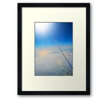 Large Endeavour's Final Voyage To Space, galaxy, world, flight, Print Poster Art Framed Print
