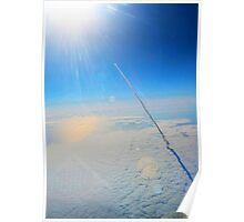 Large Endeavour's Final Voyage To Space, galaxy, world, flight, Print Poster Art Poster