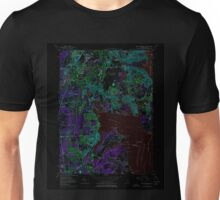 USGS TOPO Map Rhode Island RI East Greenwich 353283 1957 24000 Inverted Unisex T-Shirt