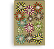 Floral healing meditation Canvas Print