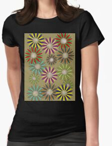 Floral healing meditation Womens Fitted T-Shirt