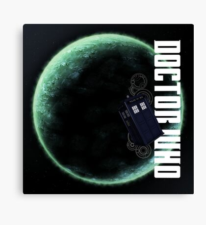 Doctor Who Slogan 2 Canvas Print
