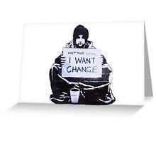 Banksy: Change Greeting Card