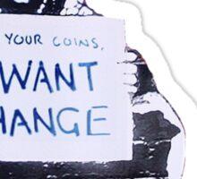 Banksy: Change Sticker