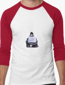Banksy: Change Men's Baseball ¾ T-Shirt
