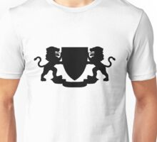 Heraldic Lions, Banner and Shield Unisex T-Shirt