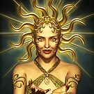 Golden Sun Goddess by Britta Glodde