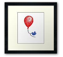 The Bluebird Of Happiness Stole My Red Balloon Framed Print