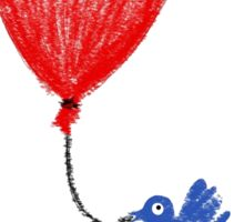 The Bluebird Of Happiness Stole My Red Balloon Sticker