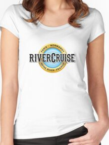 Normandy River Cruise Women's Fitted Scoop T-Shirt