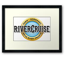 Normandy River Cruise Framed Print