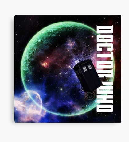 Doctor Who Slogan 3 Canvas Print