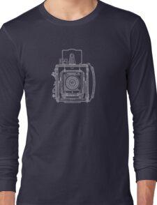 Vintage Photography - Graflex Blueprint Long Sleeve T-Shirt