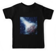 Space background with a planet Kids Tee