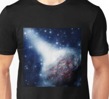 Space background with a planet Unisex T-Shirt