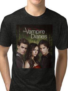 The Vampire Diaries Cover Tri-blend T-Shirt
