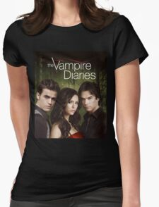 The Vampire Diaries Cover Womens Fitted T-Shirt
